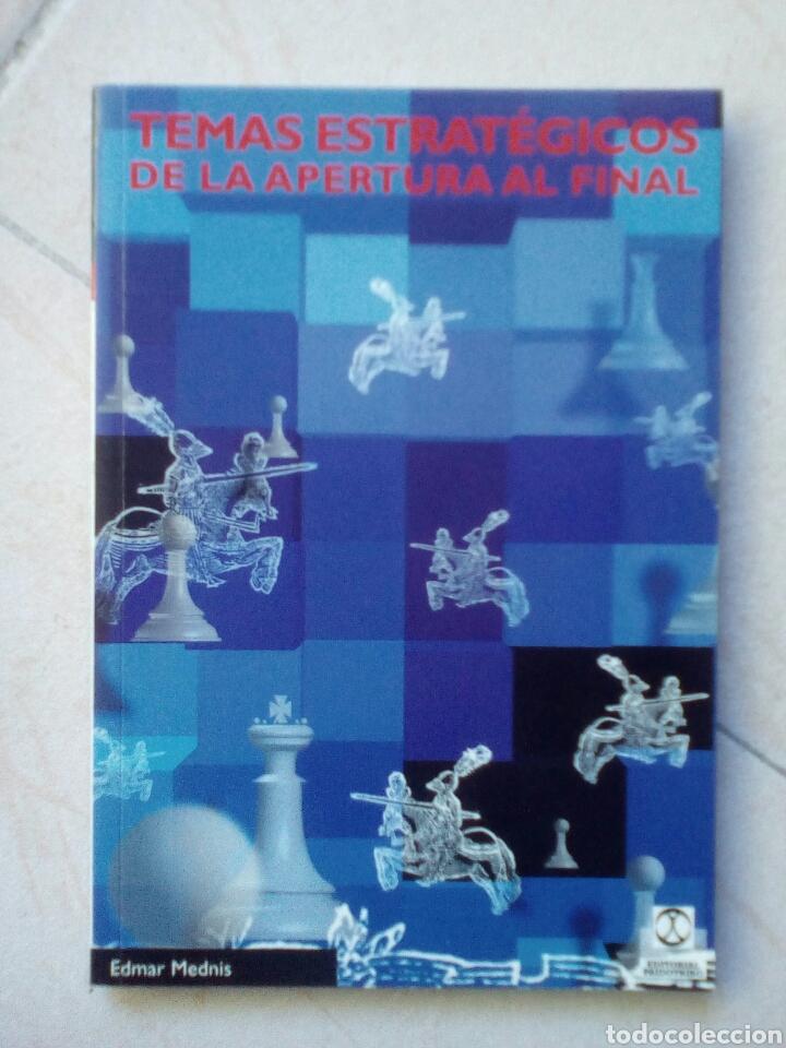 TEMAS ESTRATÉGICOS DE LA APERTURA AL FINAL. EDMAR MEDNIS (Coleccionismo Deportivo - Libros de Ajedrez)