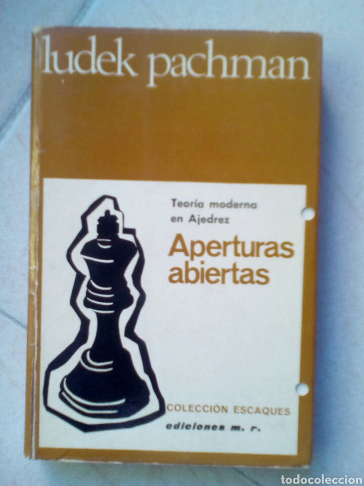 TEORÍA MODERNA EN AJEDREZ. APERTURAS ABIERTAS, DE LUDEK PACHMAN (Coleccionismo Deportivo - Libros de Ajedrez)