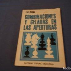 Coleccionismo deportivo: AJEDREZ .CHESS. LUIS PALAU. COMBINACIONES Y CELADAS EN LAS APERTURAS. . Lote 178987215