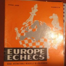 Coleccionismo deportivo: AJEDREZ REVISTA EUROPE ECHECS 1964 N.67-68 CHESS (EN FRANCÉS). Lote 179186010
