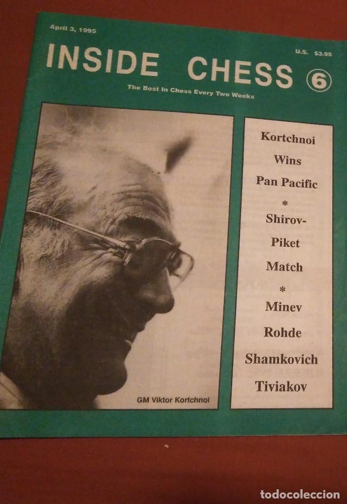 AJEDREZ REVISTA INSIDE CHESS ABRIL 1995 KORCHNOI (Coleccionismo Deportivo - Libros de Ajedrez)