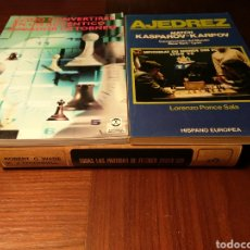 Coleccionismo deportivo: LOTE AJEDREZ: TODAS LAS PARTIDAS DE FISCHER...; AJEDREZ, MATCH KASPAROV-KARPOV; CÓMO CONVERTIRSE.... Lote 180021065