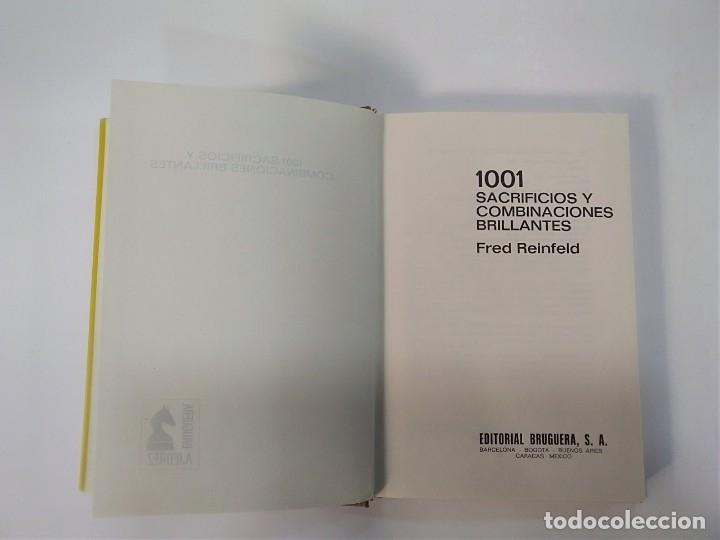 Coleccionismo deportivo: 1001 SACRIFICIOS Y COMBINACIONES BRILLANTES - FRED REINFELD - BRUGUERA AJEDREZ - Foto 3 - 181851595