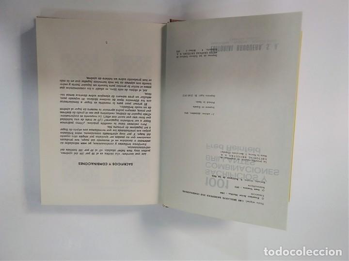 Coleccionismo deportivo: 1001 SACRIFICIOS Y COMBINACIONES BRILLANTES - FRED REINFELD - BRUGUERA AJEDREZ - Foto 4 - 181851595