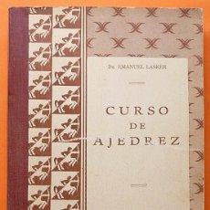 Coleccionismo deportivo: CURSO DE AJEDREZ - DR. EMANUEL LASKER - CIA. EDITORIAL CONTINENTAL (MEXICO) - 1958 - VER INDICE. Lote 182434921