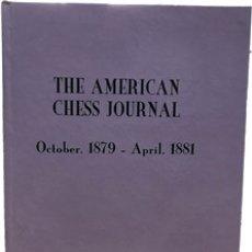 Coleccionismo deportivo: AJEDREZ. THE AMERICAN CHESS JOURNAL. OCTOBER 1879 - APRIL 1881 - EDITED C. C. MOORE (CARTONÉ) DESCAT. Lote 182771566