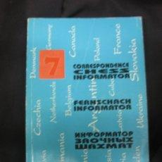 Coleccionismo deportivo: AJEDREZ . CORRESPONDENCE CHESS INFORMATOR. 7. 1995. AJEDREZ.. Lote 182873286