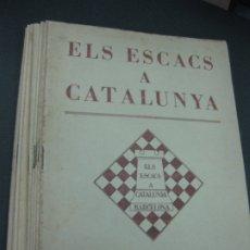 Coleccionismo deportivo: ELS ESCACS A CATALUNYA. AÑO 1932 12 NUMEROS. COMPLETO. AJEDREZ.. Lote 182961772