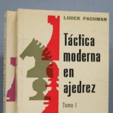Coleccionismo deportivo: TÁCTICA MODERNA EN AJEDREZ. LUDEK PACHMAN. Lote 182982202