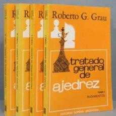 Coleccionismo deportivo: TRATADO GENERAL DE AJEDREZ. ROBERTO G. GRAU. 4 TOMOS. Lote 182982643