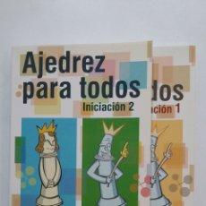 Coleccionismo deportivo: AJEDREZ PARA TODOS. INICIACIÓN 1 Y 2 - JORDI PRIÓ BURGUÉS / RAMÓN TORRA BERNAT / IMMA FARRE. TDK405. Lote 182992506