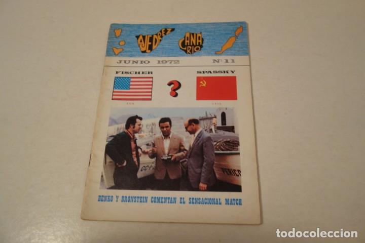 AJEDREZ. CHESS. REVISTA AJEDREZ CANARIO JUNIO 1972. Nº 11 (Coleccionismo Deportivo - Libros de Ajedrez)