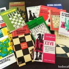 Coleccionismo deportivo: LOTE 16 LIBROS DE AJEDREZ, Y ENVIO GRATIS!. Lote 183497455
