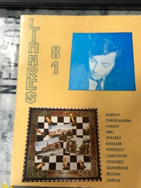 TORNEO DE LINARES 1981 EDITORIAL JAQUE PRIMERA EDICIÓN OCTUBRE 1981 (Coleccionismo Deportivo - Libros de Ajedrez)
