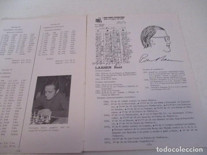 Coleccionismo deportivo: AJEDREZ. CHESS. REVISTA AJEDREZ CANARIO Nº 12. JULIO 1972. I GRAN TORNEO INTERNACIONAL LAS PALMAS DE - Foto 2 - 183592473