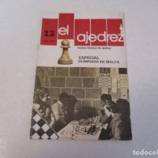 Coleccionismo deportivo: AJEDREZ. CHESS.--- EL AJEDREZ. REVISTA TÉCNICA DE AJEDREZ. NUM 13 ENERO 1981.. Lote 183594482