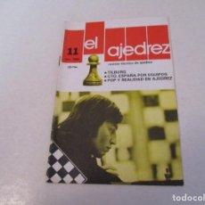 Coleccionismo deportivo: AJEDREZ. CHESS.--- EL AJEDREZ. REVISTA TÉCNICA DE AJEDREZ. NUM 11 NOVIEMBRE -1980. Lote 183594803