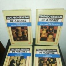Coleccionismo deportivo: ROBERTOG. GRAU, TRATADO GENERAL DE AJEDREZ COMPLETO 4 TOMOS TAPA DURA. Lote 183869685