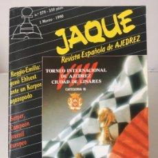 Coleccionismo deportivo: AJEDREZ. CHESS. REVISTA DE AJEDREZ JAQUE Nº 279 - MARZO DE 1990. Lote 183982621