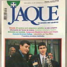 Coleccionismo deportivo: AJEDREZ. CHESS. REVISTA DE AJEDREZ JAQUE Nº 397 - MARZO DE 1995. Lote 183984221
