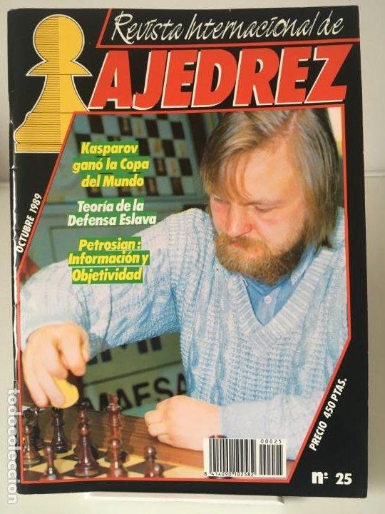 AJEDREZ. CHESS. REVISTA INTERNACIONAL DE AJEDREZ Nº 25 - AÑO 1989 (Coleccionismo Deportivo - Libros de Ajedrez)