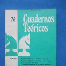 Coleccionismo deportivo: REVISTA ESPAÑOLA DE AJEDREZ JAQUE. CUADERNOS TEORICOS 76. OCTUBRE 1980. Lote 183999931