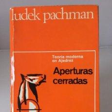 Collectionnisme sportif: AJEDREZ. CHESS. LIBRO AJEDREZ APERTURAS CERRADAS - LUDEK PACHMAN 1970. Lote 184193076