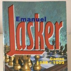 Coleccionismo deportivo: AJEDREZ. CHESS. EMANUEL LASKER I GAMES 1889 - 1903 - GM ALEXANDER KHALIFMAN 1998. Lote 184196511