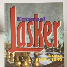 Coleccionismo deportivo: AJEDREZ. CHESS. EMANUEL LASKER II GAMES 1904 - 1940 - GM ALEXANDER KHALIFMAN 1998. Lote 184196623
