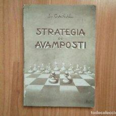 Coleccionismo deportivo: AJEDREZ.STRATEGIA DI AVAMPOSTI.CANAL (RARO). Lote 184559550