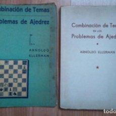 Coleccionismo deportivo: AJEDREZ.COMBINACIÓN DE TEMAS EN LOS PROBLEMAS DE AJEDREZ. ELLERMAN (RARO). Lote 184560721