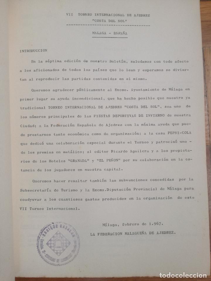 Coleccionismo deportivo: VII TORNEO INTERNACIONAL DE AJEDREZ COSTA DEL SOL. MALAGA 1967 - PUBLICIDAD PEPSI COLA - Foto 2 - 184708882
