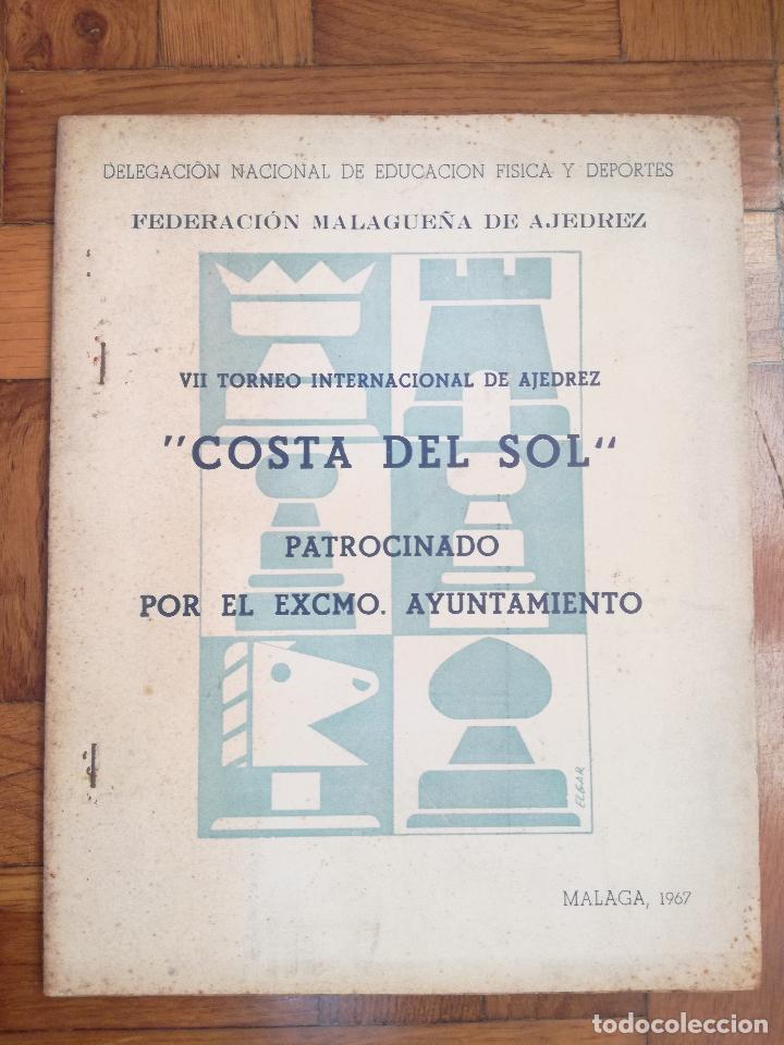 VII TORNEO INTERNACIONAL DE AJEDREZ COSTA DEL SOL. MALAGA 1967 - PUBLICIDAD PEPSI COLA (Coleccionismo Deportivo - Libros de Ajedrez)
