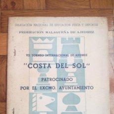 Coleccionismo deportivo: VII TORNEO INTERNACIONAL DE AJEDREZ COSTA DEL SOL. MALAGA 1967 - PUBLICIDAD PEPSI COLA. Lote 184708882