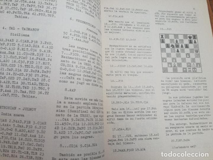 Coleccionismo deportivo: XXVI CAMPEONATO DE AJEDREZ DE LA URSS TIBILISI 1959 - BIBLIOTECA ARGENTINA DE AJEDREZ - Foto 3 - 184709198