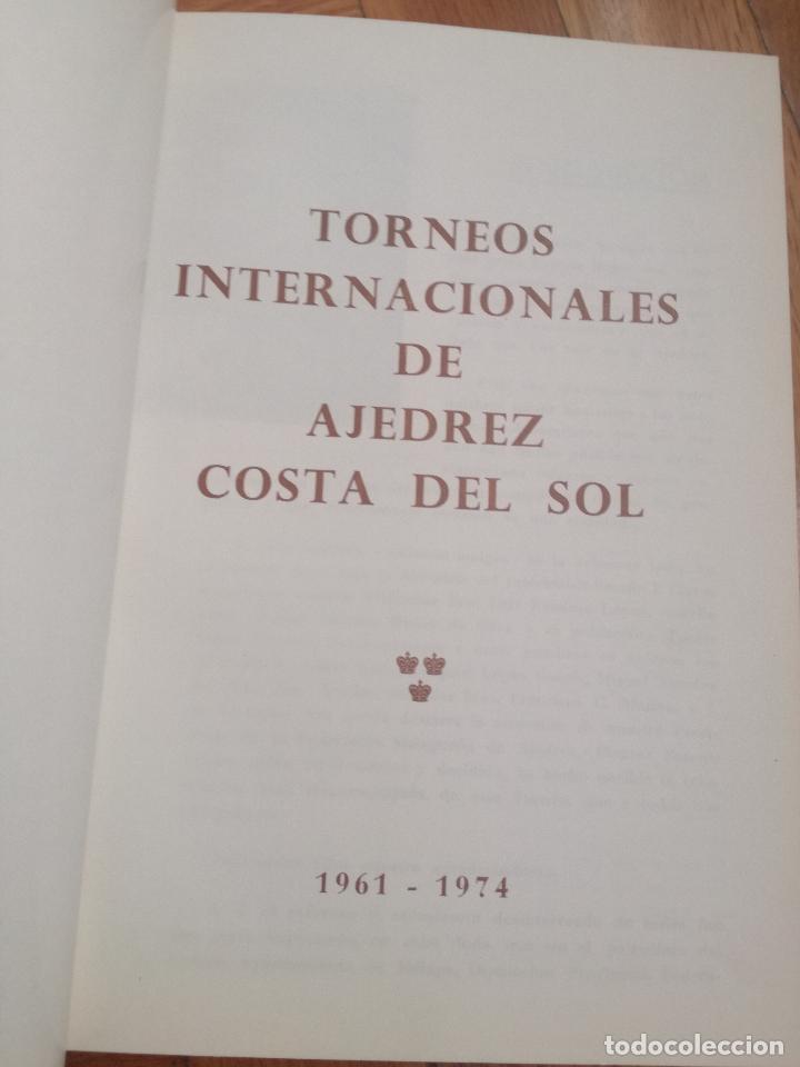 Coleccionismo deportivo: XIV TORNEO INTERNACIONAL DE AJEDREZ COSTA DEL SOL MALAGA 1961 - 1974 - Foto 2 - 184709273