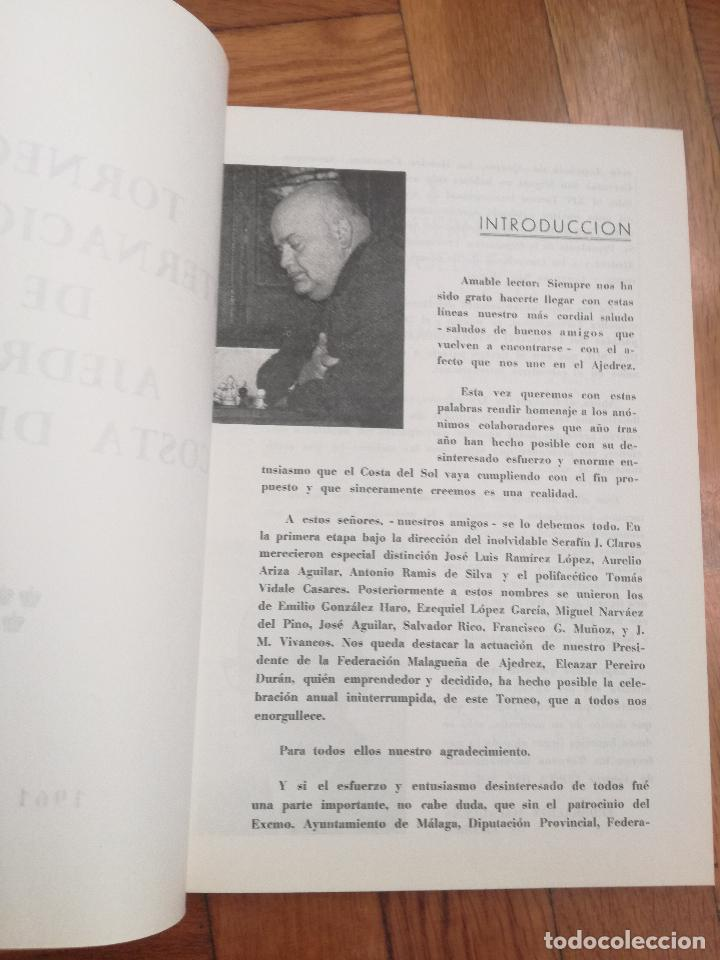 Coleccionismo deportivo: XIV TORNEO INTERNACIONAL DE AJEDREZ COSTA DEL SOL MALAGA 1961 - 1974 - Foto 3 - 184709273