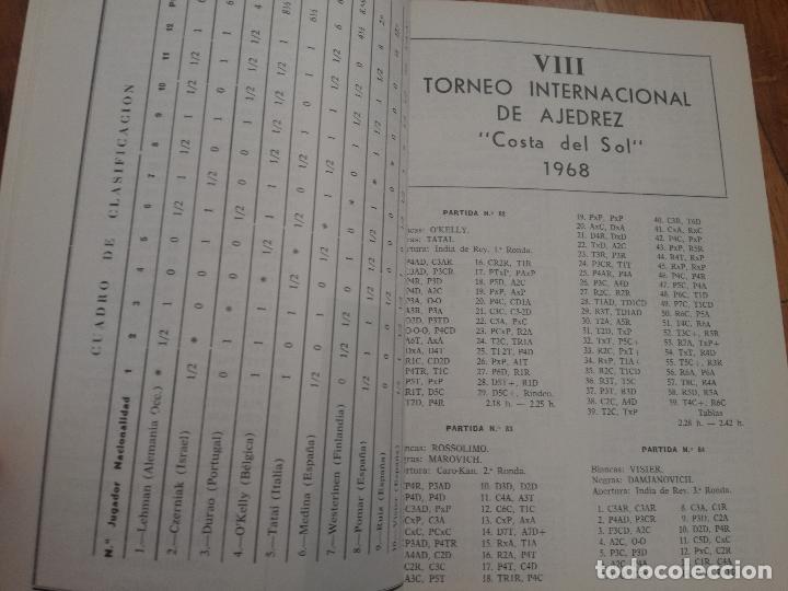 Coleccionismo deportivo: XIV TORNEO INTERNACIONAL DE AJEDREZ COSTA DEL SOL MALAGA 1961 - 1974 - Foto 5 - 184709273
