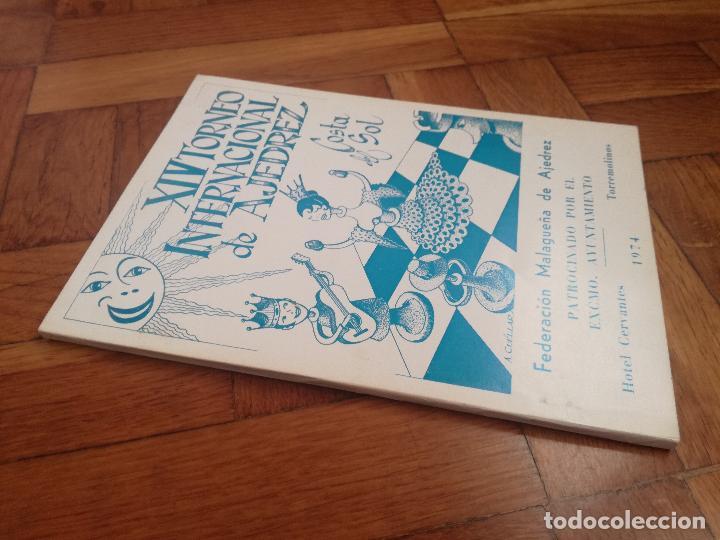 Coleccionismo deportivo: XIV TORNEO INTERNACIONAL DE AJEDREZ COSTA DEL SOL MALAGA 1961 - 1974 - Foto 10 - 184709273