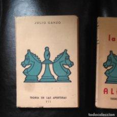 Coleccionismo deportivo: AJEDREZ. LA DEFENSA ALEKHINE. JULIO GANZO . Lote 185168491