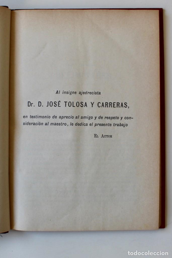 Coleccionismo deportivo: MANUAL DE AJEDREZ- JOSÉ PALUZÍE Y LUCENA-EDIT. HIJOS DE PALUZÍE- 1905/1911-3 TOMOS - Foto 2 - 185858097