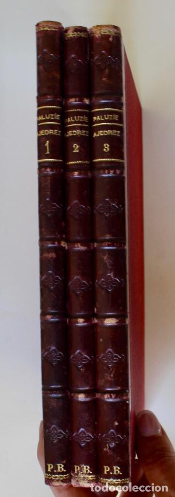 Coleccionismo deportivo: MANUAL DE AJEDREZ- JOSÉ PALUZÍE Y LUCENA-EDIT. HIJOS DE PALUZÍE- 1905/1911-3 TOMOS - Foto 3 - 185858097
