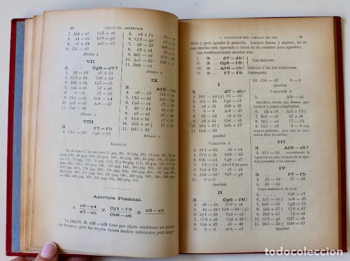 Coleccionismo deportivo: MANUAL DE AJEDREZ- JOSÉ PALUZÍE Y LUCENA-EDIT. HIJOS DE PALUZÍE- 1905/1911-3 TOMOS - Foto 9 - 185858097