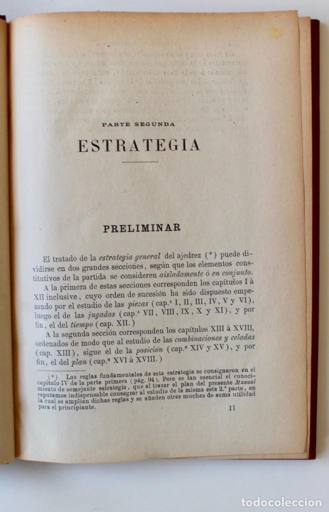 Coleccionismo deportivo: MANUAL DE AJEDREZ- JOSÉ PALUZÍE Y LUCENA-EDIT. HIJOS DE PALUZÍE- 1905/1911-3 TOMOS - Foto 12 - 185858097