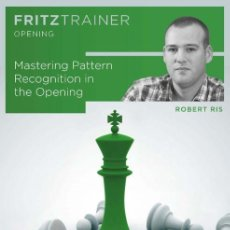 Coleccionismo deportivo: AJEDREZ. CHESS. MASTERING PATTERN RECOGNITION IN THE OPENING - ROBERT RIS DVD. Lote 187121038