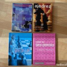 Coleccionismo deportivo: LOTE 4 LIBROS AJEDREZ. Lote 187191666