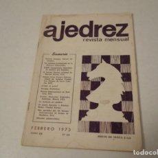 Coleccionismo deportivo: AJEDREZ. CHESS. REVISTA AJEDREZ REVISTA MENSUAL FEBRERO 1973. NÚM 226. Lote 188734646