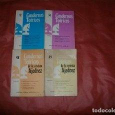 Coleccionismo deportivo: LOTE CUADERNOS TEÓRICOS DE LA REVISTA AJEDREZ Y JAQUE. Lote 188805620