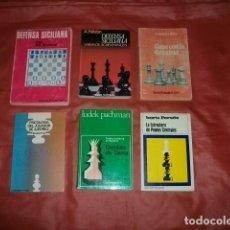 Coleccionismo deportivo: LOTE DE SEIS LIBROS SOBRE AJEDREZ. Lote 188805866