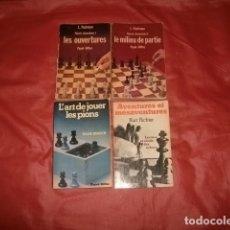 Coleccionismo deportivo: LOTE DE CUATRO LIBROS SOBRE AJEDREZ EN FRANCÉS (L. PACHMAN, HANS KMOCH Y KURT RICHTER). Lote 188806242